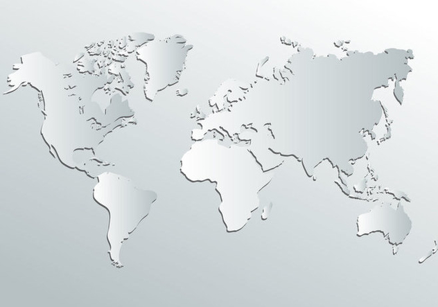 White World Map Vector - Free vector #407731