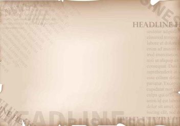 Vintage Old Newspaper Background - Free vector #407751