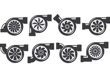Turbocharger Icons - vector #407931 gratis