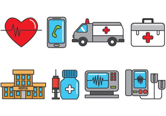 CPR Icons - vector #407941 gratis