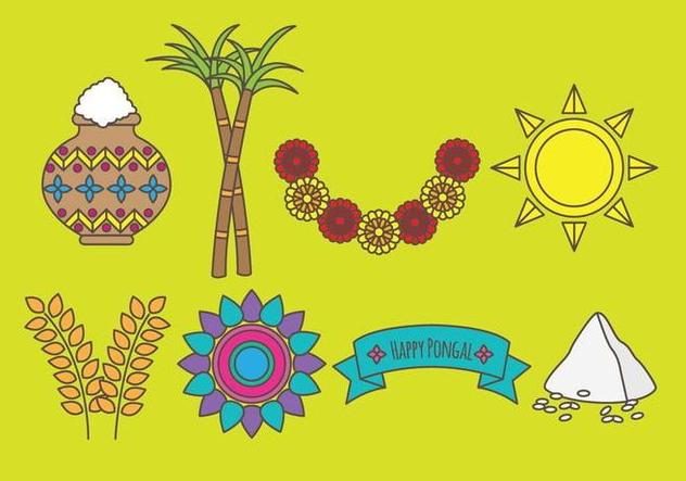 Pongal Icons - vector #407951 gratis