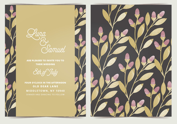 Vector Wedding Invitation - бесплатный vector #408131