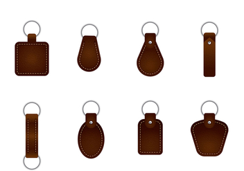 Leather Key Chain Vectors - Free vector #408151