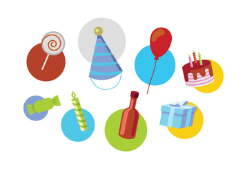 Birthday vectors - vector gratuit #408351
