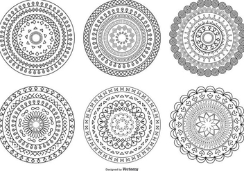 Decorative Circle Shapes - Free vector #408401