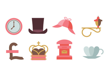 Icons on a theme of England - Free vector #408421