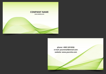 Free Vector Green Wavy Business Card - vector gratuit #408631