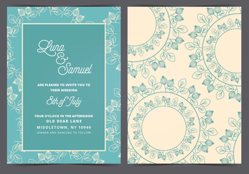Vector Wedding Invitation - Free vector #408701