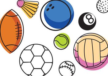 Free Sports Balls Vectors - Free vector #408801