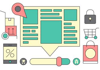 Web Portal UI Vector Icons - Kostenloses vector #408821