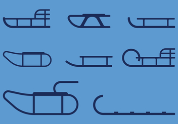 Sleds Icons - vector #408981 gratis