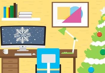 Free Christmas Vector Workspace - бесплатный vector #409071