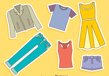 Casual Fashion Vector Set - Free vector #409151