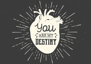 Heart Destiny Vector Typography - vector gratuit #409341