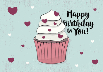 Free Happy Birthday Greeting Card - vector gratuit #409471