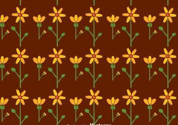 Flat Calendula Flowers Seamless Pattern - Free vector #409601