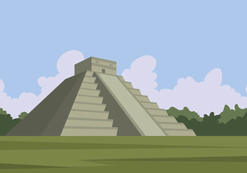 Piramide Mayan Free Vector - vector gratuit #409781