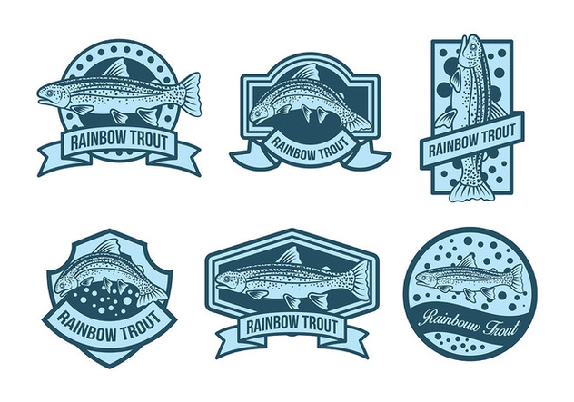 Free Rainbow Trout Icons Vector - Free vector #409881