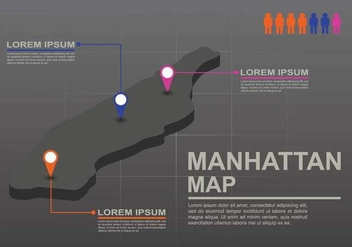 Free Manhattan Map Illustration - Kostenloses vector #410181