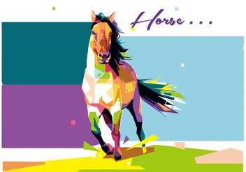 Horse - WPAP - Free vector #410251
