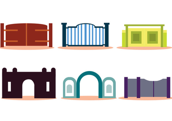 Open Gate Vector Set - Free vector #410601