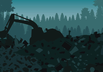 Landfill Silhouette Free Vector - Free vector #410621