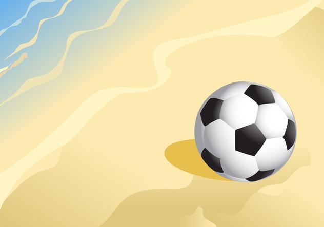 Soccer Ball on a Sandy Beach Vector - Free vector #410651