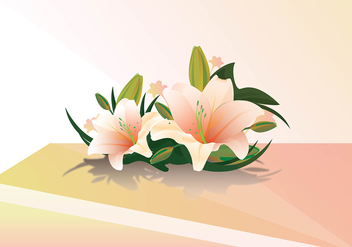 Easter lily realistic vector - Kostenloses vector #410731