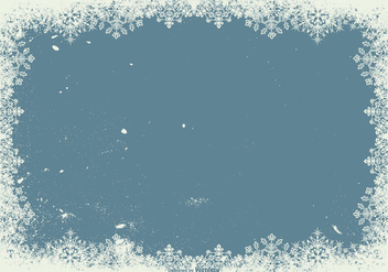 Grunge Snowflake Frame Background - vector #410791 gratis