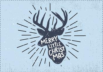 Free Christmas Deer Vector - бесплатный vector #410841