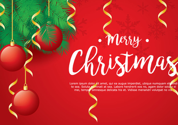 Christmas Background - vector gratuit #410911