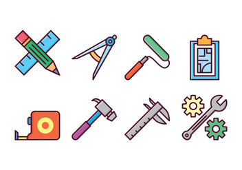 Free Architect and Construction Icons - vector gratuit #410921