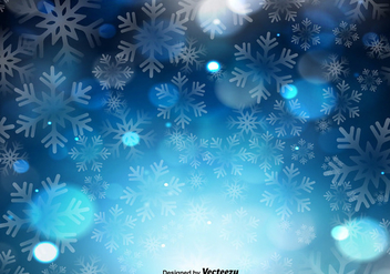 Vector Blue Background With Snowflakes - Free vector #411221