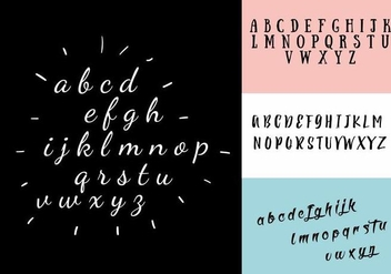 Decorative Alphabet Vector Set - бесплатный vector #411241
