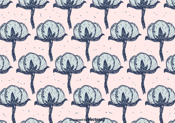 Cotton Flower Pattern - Free vector #411601