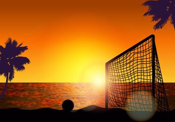 Goal For Beach Soccer - Kostenloses vector #411631