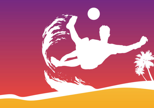Beach Soccer Cup - Free vector #411671