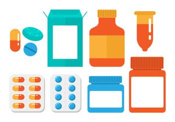 Free Pill Box Vector - vector #411701 gratis