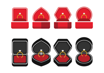 Ring Box Icons - vector #411801 gratis