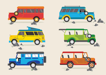 Jeepney Traditional Philippines Bus Vector - Kostenloses vector #411971