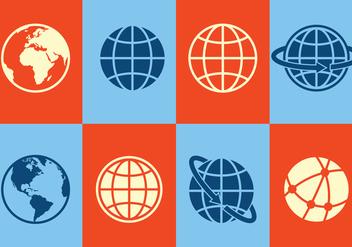 Globe Icons - vector gratuit #412201