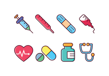 Free Medical Icon Set - vector gratuit #412221