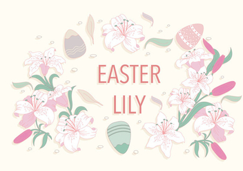 Easter Lily Frame Vector - Free vector #412481