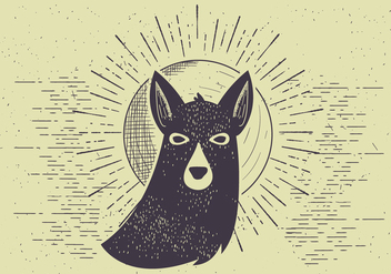 Free Vector Dog Illutration - Free vector #412541