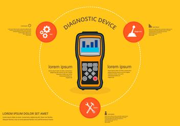 Gear Shift Mobile Engine Diagnostic - vector gratuit #412721