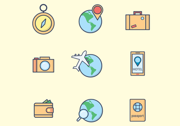 Free Travel Icons - vector #412841 gratis