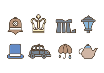 Symbols of Great Britain Kingdom Icons - Free vector #413001