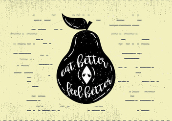 Free Hand Drawn Pear Fruit Background - Free vector #413191