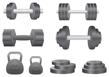 Free Dumbell Icons Vector - Free vector #413431