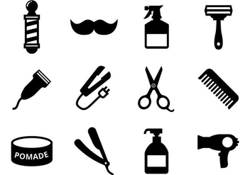 Free Barber Icons Vector - vector #413461 gratis